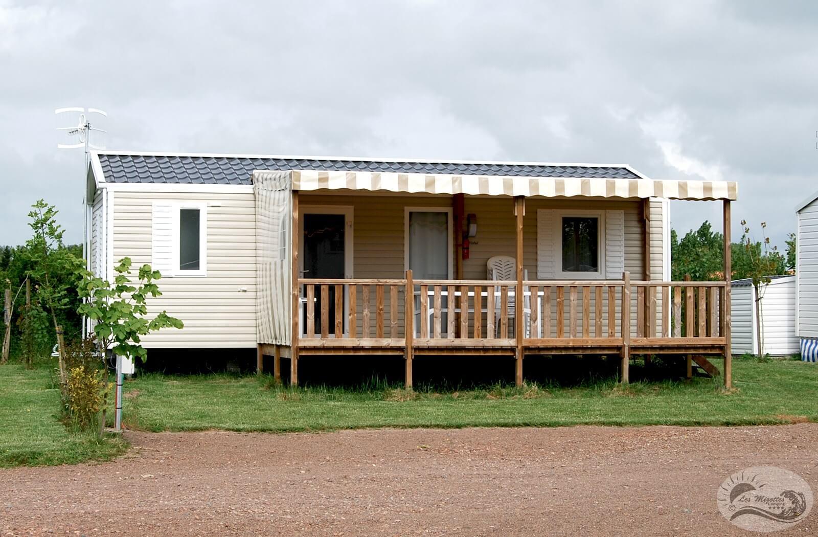 mobil homes 3 chambres vip location 6 8 personnes camping les mizottes. Black Bedroom Furniture Sets. Home Design Ideas